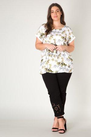 Yesta bela ženska majica Janoek s tropskimi motivi - 46