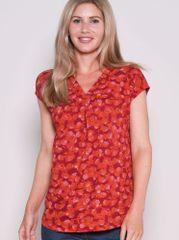 Brakeburn Rdeča majica z vzorcem - XXL
