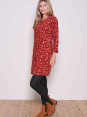 Brakeburn Rdeča obleka z vzorcem - 46