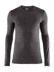 Craft moška dolga majica Fuseknit Comfort Black Melange