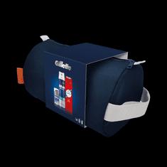 Gillette Pena Na Holenie + Old Spice Whitewater Sprchový Gél Pre Muža + Gillette Hydratačný Krém Po Holení + Cestovná Taška