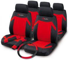 Bottari Indy set presvlaka za sjedala, 12kom, crveno-crna