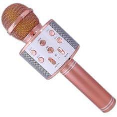Alum online Bezdrôtový karaoke mikrofón WS-858 - Rose Gold