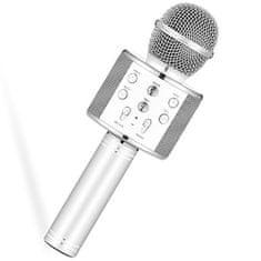 Alum online Bezdrátový karaoke mikrofon WS-858 - Stříbrný