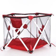 Tavalax Otroški prenosni manež z mrežico, rdeča