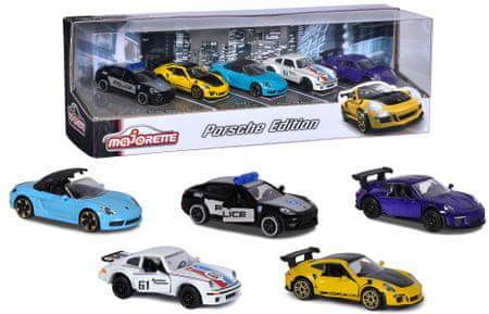 Majorette Porsche darilni komplet, 5 kosov