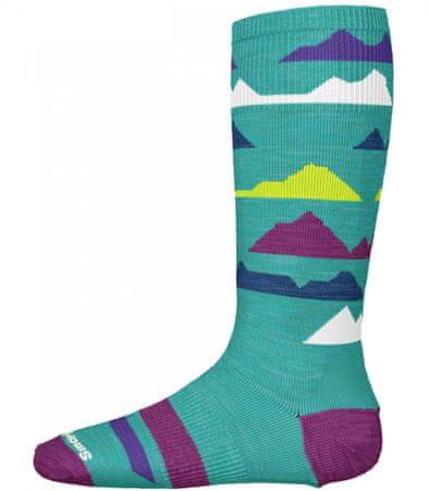 SMARTWOOL Gyermek zokni K Wintersport Mountain capri, L, zöld