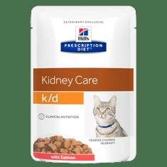 Hill's PD Feline k/d Salmon vrećica za mačke, 12x 85 g