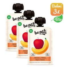 BePlus 3x BIO jablko a banán 100g