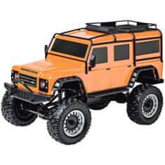 Carson Modelsport LAND ROVER DEFENDER Rock Crawler 4WD 1:8, oranžová, 2,4 Ghz, LED