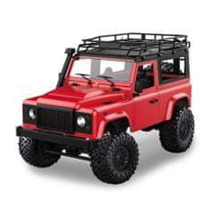 Amewi Trade D90 Rock Crawler Defender 1:12, 4WD, 2,4 GHz, LED, 100% RTR, proporcionální jízda, červená