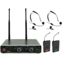 Chord NU2-N duální UHF hlavový bezdrátový mikrofonní systém,863.42+864.3 MHz