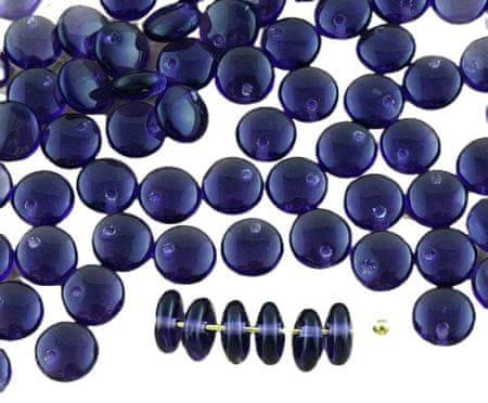 Kraftika 60 sztuk kryształowe światło fioletowy fioletowy soczewica