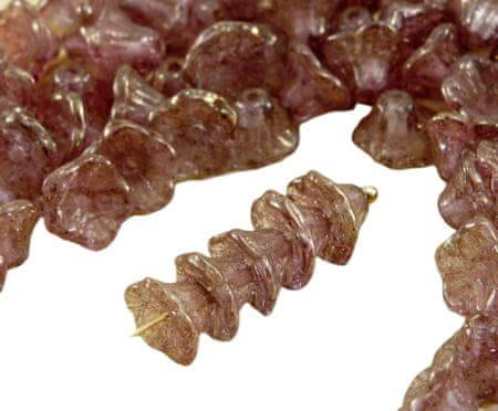 Kraftika 40szt picasso kryształ fioletowy złoty połysk terakota