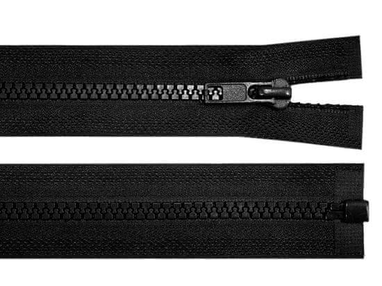 Kraftika 1ks black kostěný zip šíře 5mm délka 100cm bundový