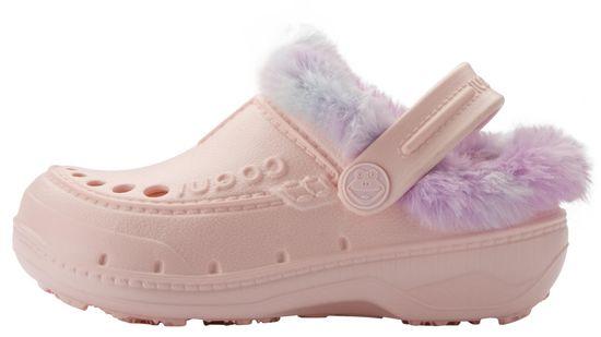 Coqui dívčí pantofle Husky Candy Pink/Rainbow 35 růžová