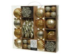Kaemingk Set plastových ozdob - zlatá - 50 ks