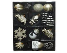 Kaemingk Set plastových ozdôb, zlatá, 25 ks