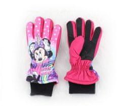 SETINO Dievčenské lyžiarské rukavice - Minnie mouse - tmavo ružová