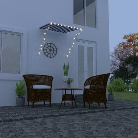 slomart Zložljiva tenda z LED lučmi 100x150 cm rumena in bela