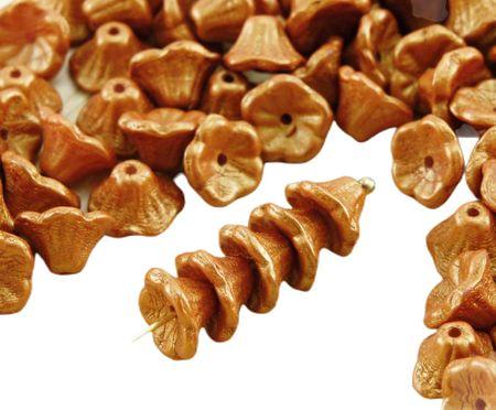 Kraftika 40db arany ragyog borostyán sárga arany matt gyöngy kis