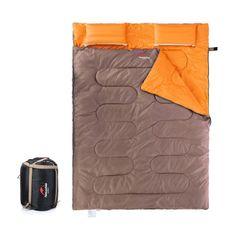 Naturehike spací vak pre 2 osoby 2400g - hnedá/oranžová
