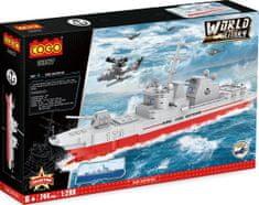 Cogo stavebnice Raketový torpédoborec Arleigh Burke 1:200 typ LEGO 744 dílů