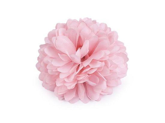 Kraftika 1ks růžová světlá brož / ozdoba květ ø7cm, růže vlasů