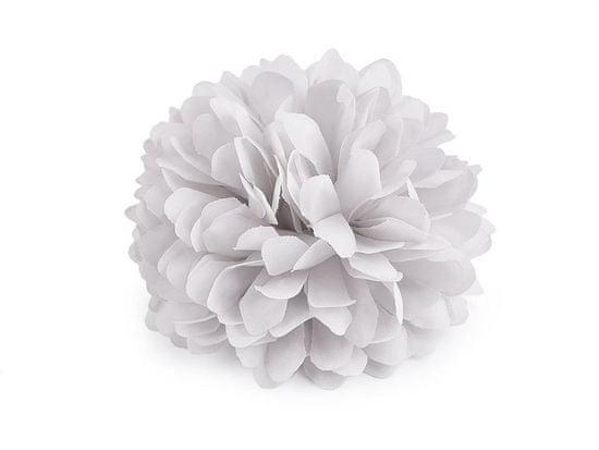 Kraftika 1ks šedá nejsv. brož / ozdoba květ ø7cm, růže vlasů