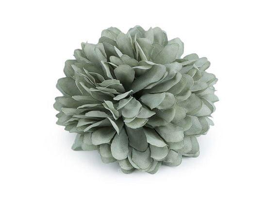 Kraftika 1ks zelenkavá brož / ozdoba květ ø7cm, růže vlasů, ozdoby