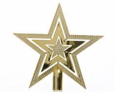 Kaemingk Plastová špička - hvězda - zlatá