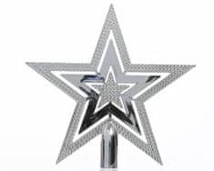 Kaemingk Plastová špička - hvězda - stříbrná