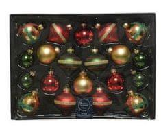 Kaemingk Set skleněných ozdob - mix barev - 20 ks