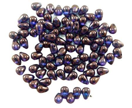 Kraftika 40db kristály vega lila csillogás cseh üveg kis könnycsepp