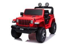 Beneo Elektrické autíčko JEEP Wrangler, Jednomiestne, Kožené sedadlá, Rádio s Bluetooth, 4x4, 12V10Ah, EVA