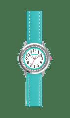 CLOCKODILE Tyrkysové třpytivé dívčí hodinky se kamínky CLOCKODILE SPARKLE