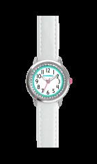 CLOCKODILE Bílé třpytivé dívčí hodinky se kamínky CLOCKODILE SPARKLE
