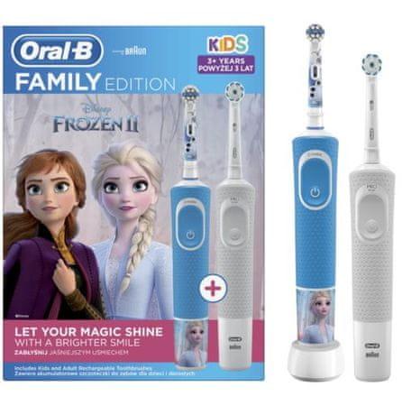Oral-B električna četkica za zube - obiteljska serija: Vitality + Vitality Kids Snježno kraljestvo 2