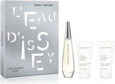 Issey Miyake L´Eau D´Issey Pure EDP toaletna voda, 50 ml + mlijeko za tijelo, 50 ml + gel za tuširanje, 50 ml