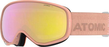 Atomic gogle narciarskie Count S Stereo, pomarańczowe, różowe soczewki