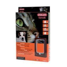 Zolux CAT DOOR dvířka pro kočku a psa 4 pozice zamykání hnědé 24x4x34cm