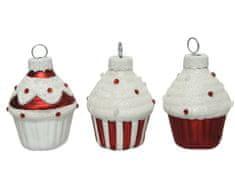 Kaemingk Set 6 skleněných ozdob Cupcake