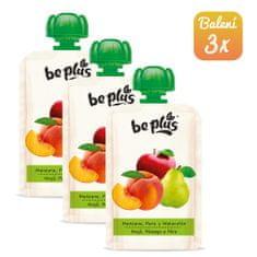 BePlus 3x Kapsička jablko, hruška a broskev 100g