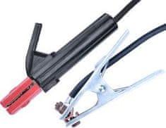 Extol Industrial Sada zváracích káblov, zváracie kliešte, uzemňovacia svorka, 16mm2, 3m, max. 160A