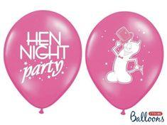 Balóniky latexové - HEN NIGHT PARTY - rozlúčka so slobodou - 6 ks - 30 cm