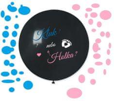 """Balón latexový s nápisom """"Chlapec alebo dievča?"""" (+ Konfety) - Gender reveal - Baby shower - 80 cm"""