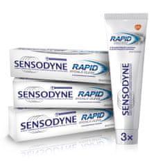 Sensodyne Rapid Whitening zobna pasta, 75 ml, 3 kosi