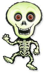Balónek foliový Skeleton - Kostra - kostlivec - 82 cm - Halloween - černo-zelený