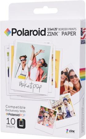 """POLAROID wkłady termiczne do aparatów Polaroid POP Zink 3x4"""", 10 szt."""