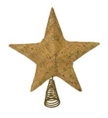 DUE ESSE zvezda- božičen okrasek za vrh drevesa, srebrna 26 cm